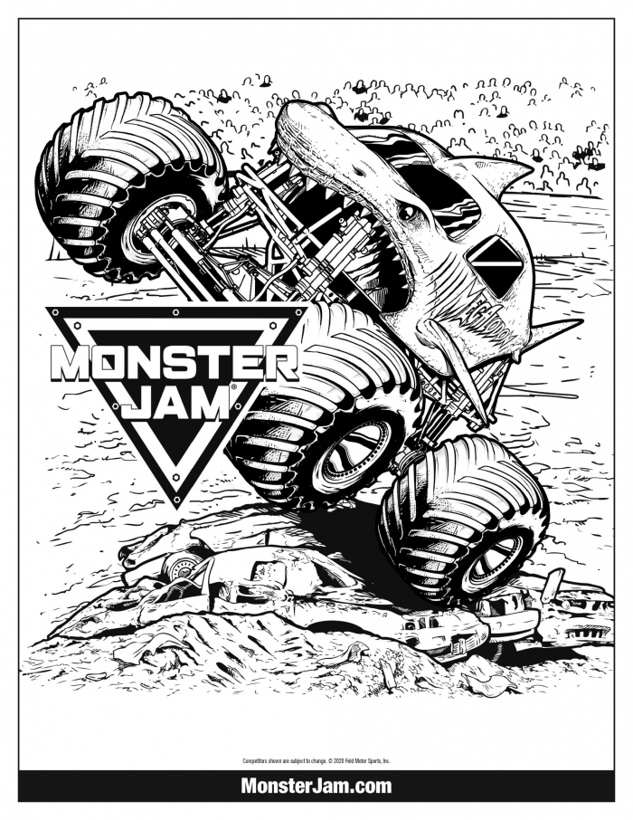 Coloring Pages  Monster Jam Coloring Page Mj