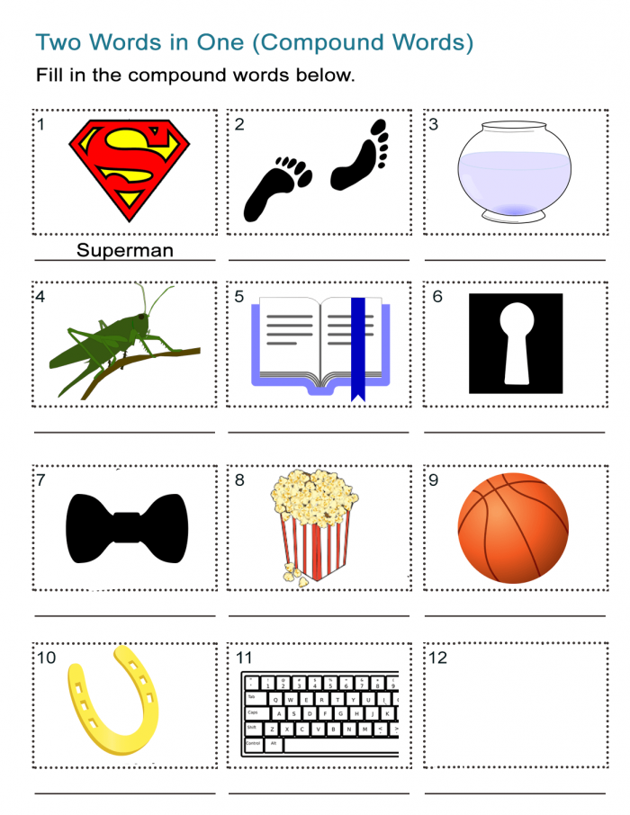Compound Words Pictures Activity