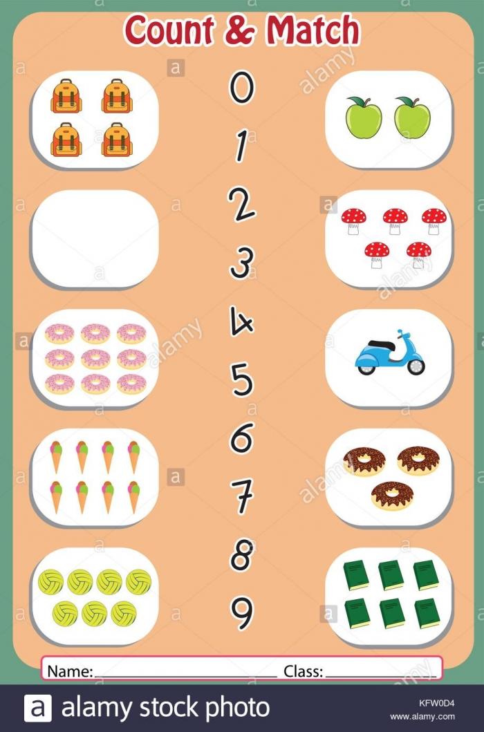 Count And Match Number Activity  Number Matching Activity