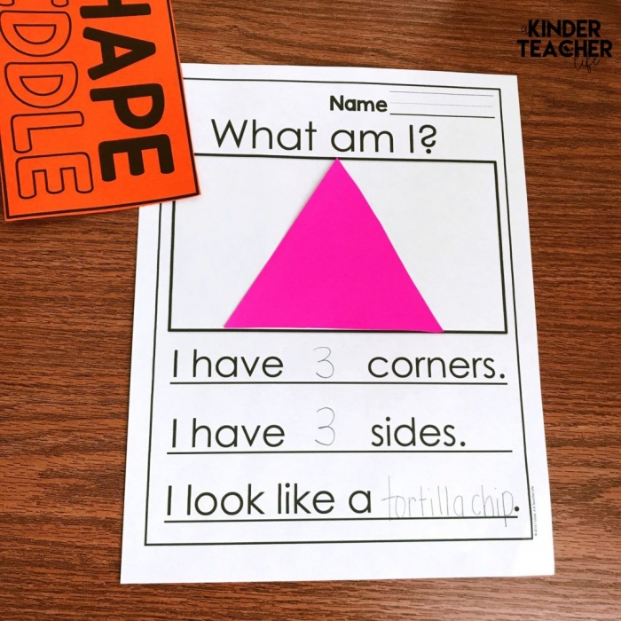 D And D Shape Riddles Free Printables Included