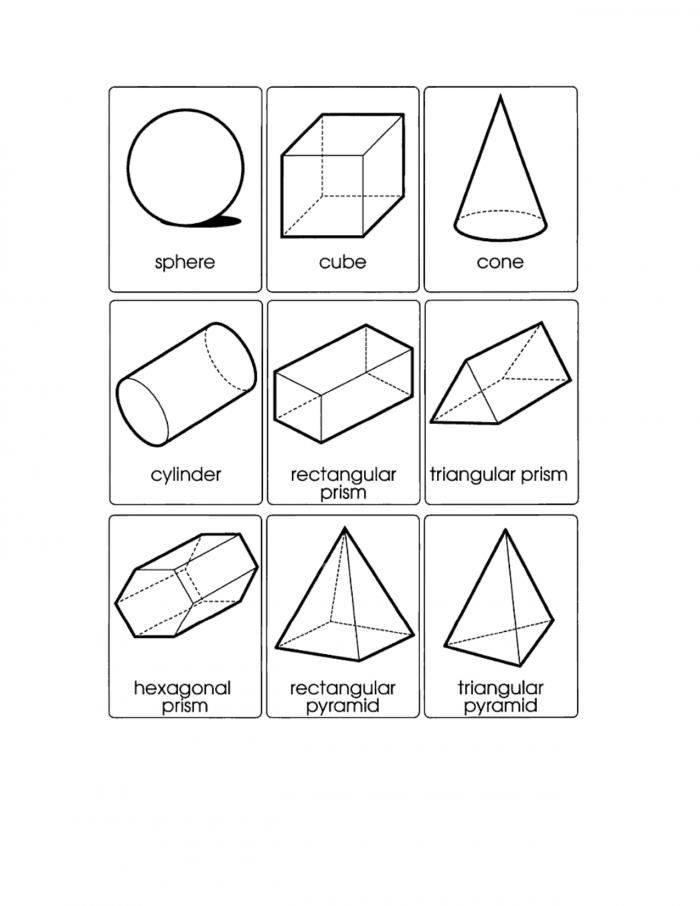 D Geometric Shapes Printable