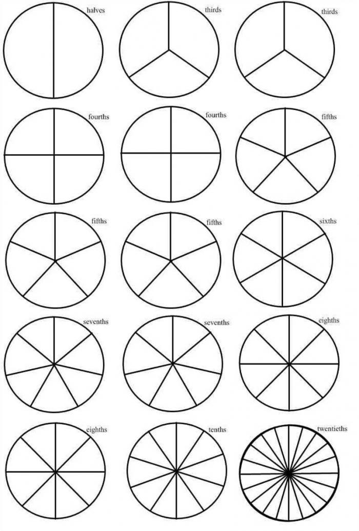 Drawing A Circle To Equal Parts