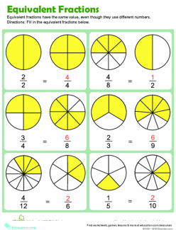 Whole Number As Equivalent Fractions 2