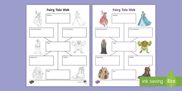Fairy Tale Web Activity Teacher Made