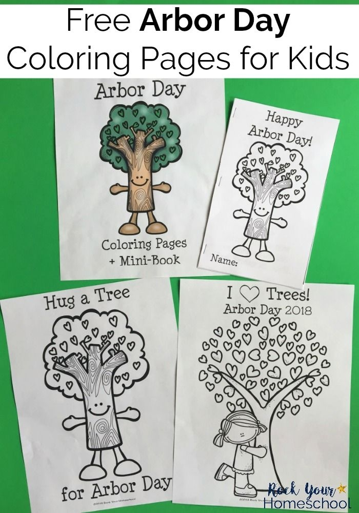 Free   Fun Arbor Day Coloring Pages For Kids