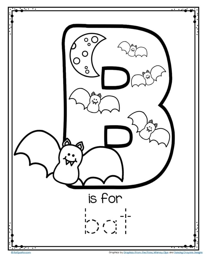 Free Alphabet Tracing And Coloring Printable Is For Letter