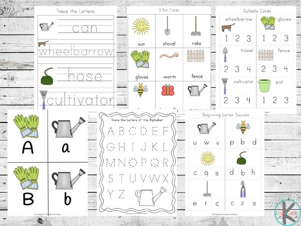 Free Garden Worksheets For Kindergarten