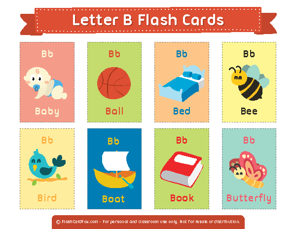 Free Printable Letter B Flash Cards Download Them In Pdf Format