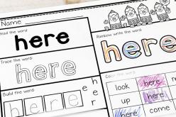 Pre-Kindergarten Sight Words: Here To Like