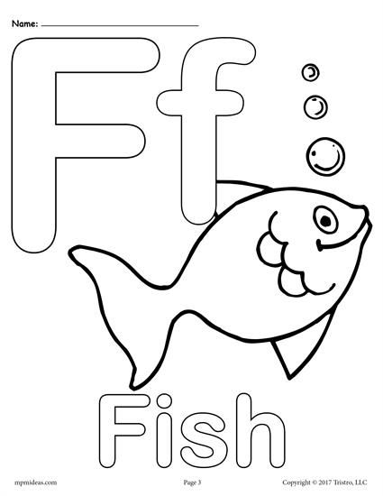 Free Printable Uppercase And Lowercase Letter F Coloring Page
