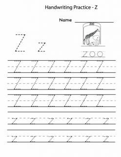 Alphabet Practice: Z
