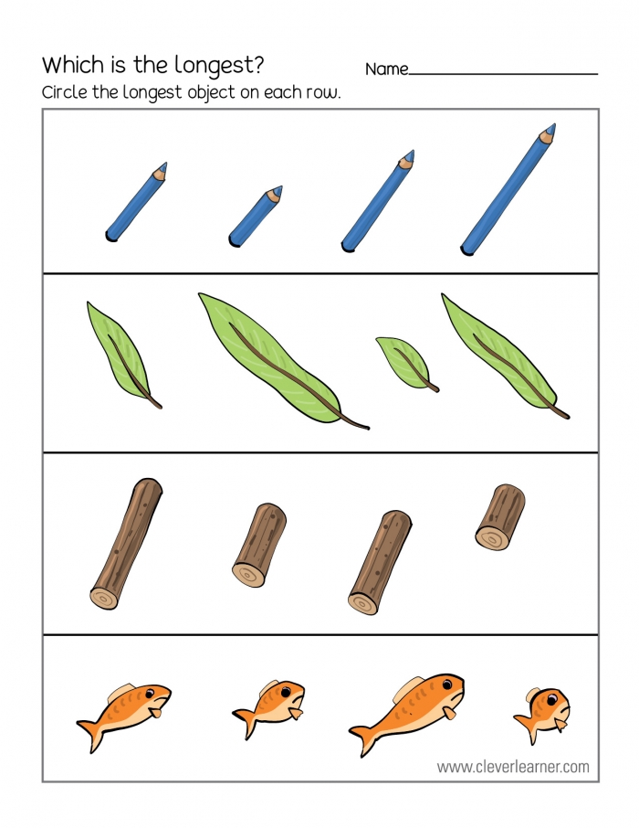 Free Printable Worksheets On Measuring Length  Long And Short
