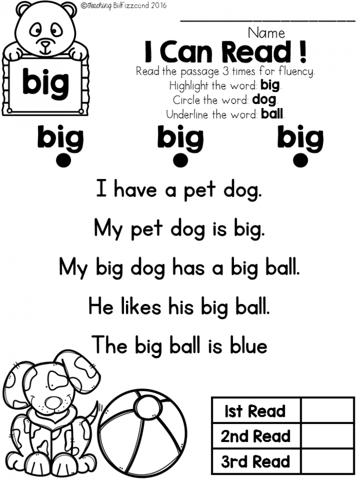 Free Sight Word Reader And Comprehension Set