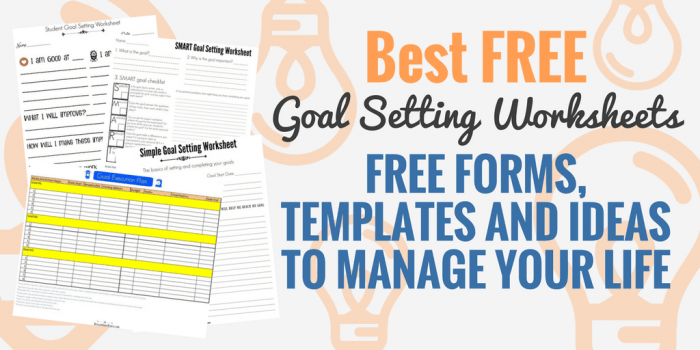 Free Smart Goal Setting Worksheets And Templates