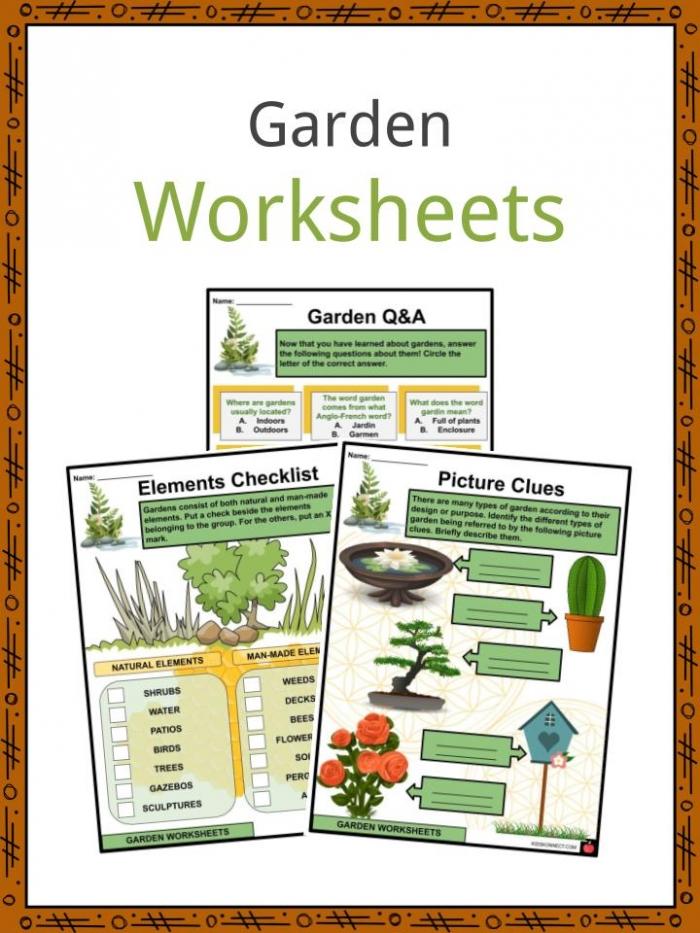Garden Facts  Worksheets  Etymology   Elements For Kids