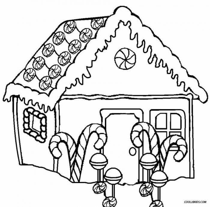 Gingerbread House Coloring Pages Picture Inspirations Free