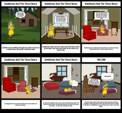 Goldilocks And The Three Bears Storyboard