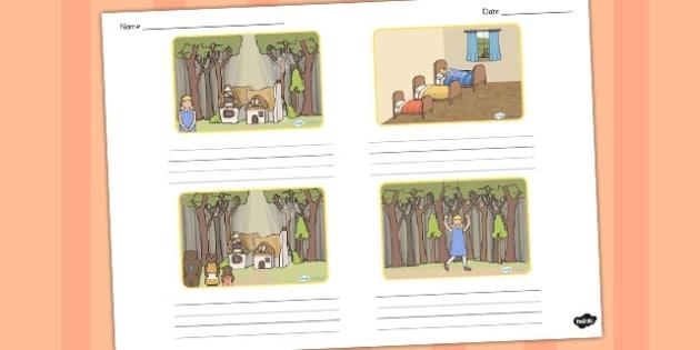 Goldilocks And The Three Bears Storyboard Template