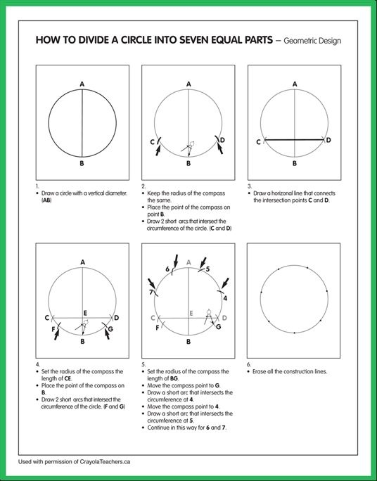 How To Divide A Circle Into  Equal Parts
