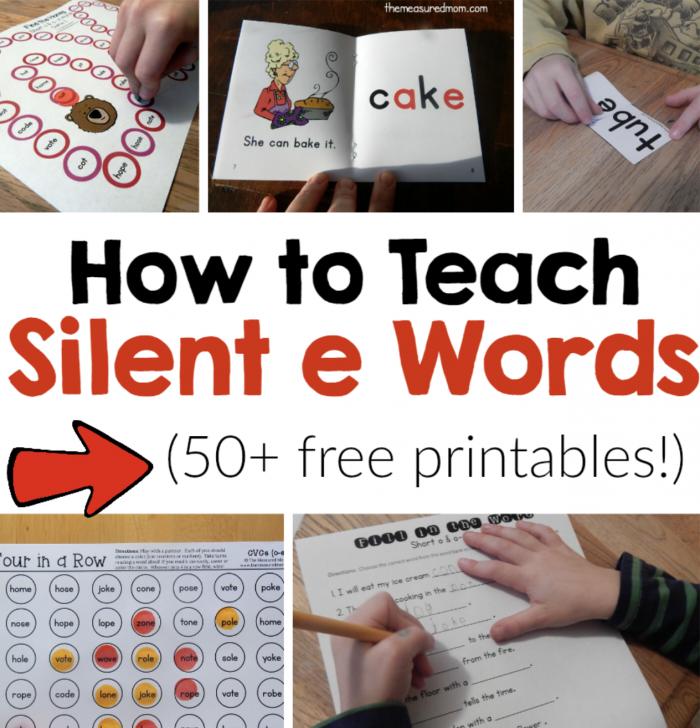 How To Teach Silent E Words