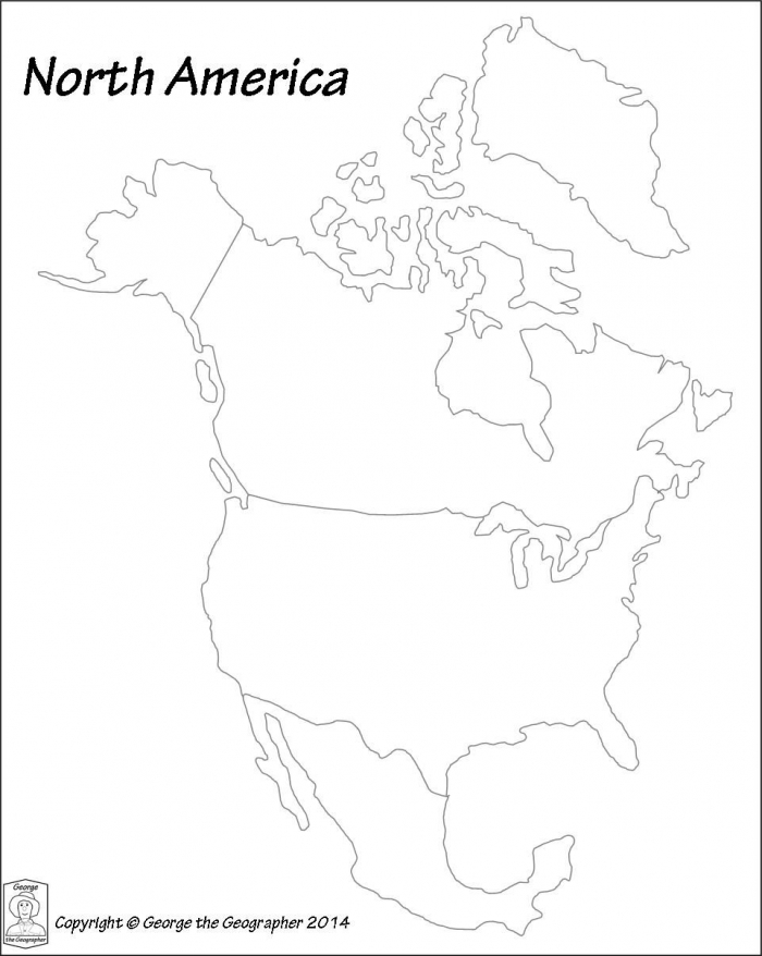 Image Result For Printable North America Continent Worksheet