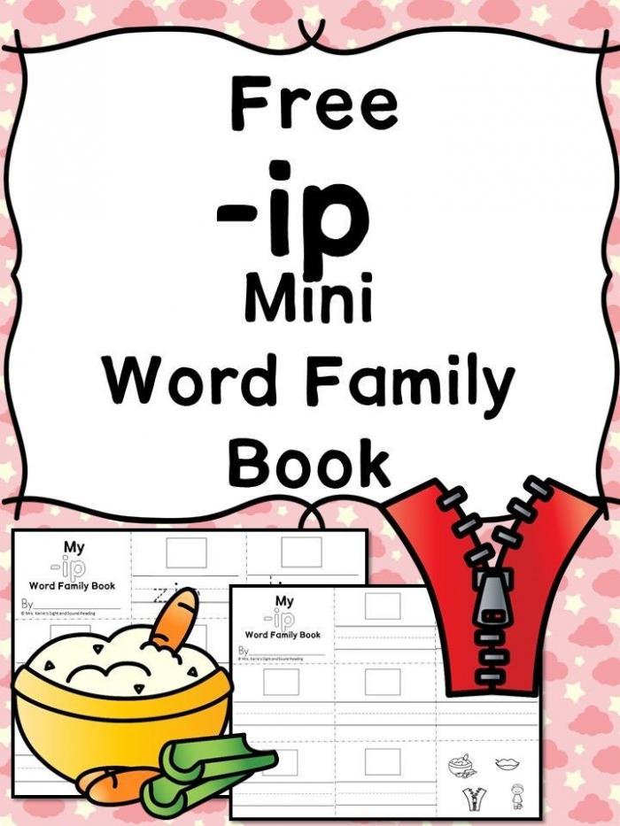 Ip Cvc Word Family Worksheets