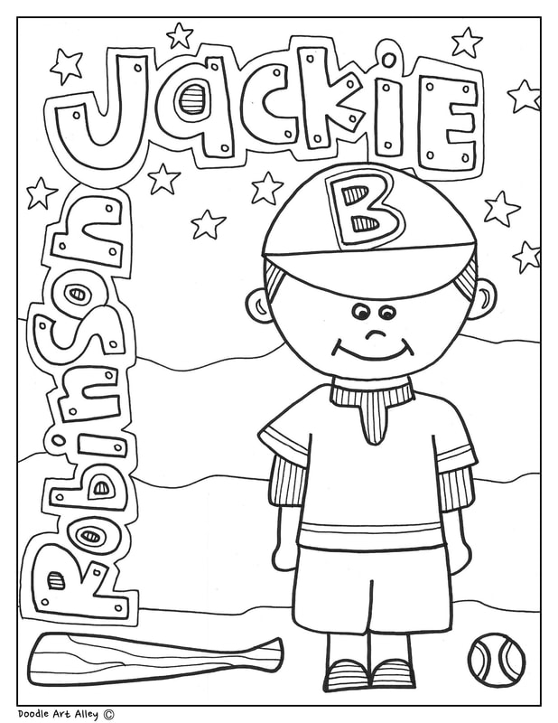 Jackie Robinson Coloring Pages