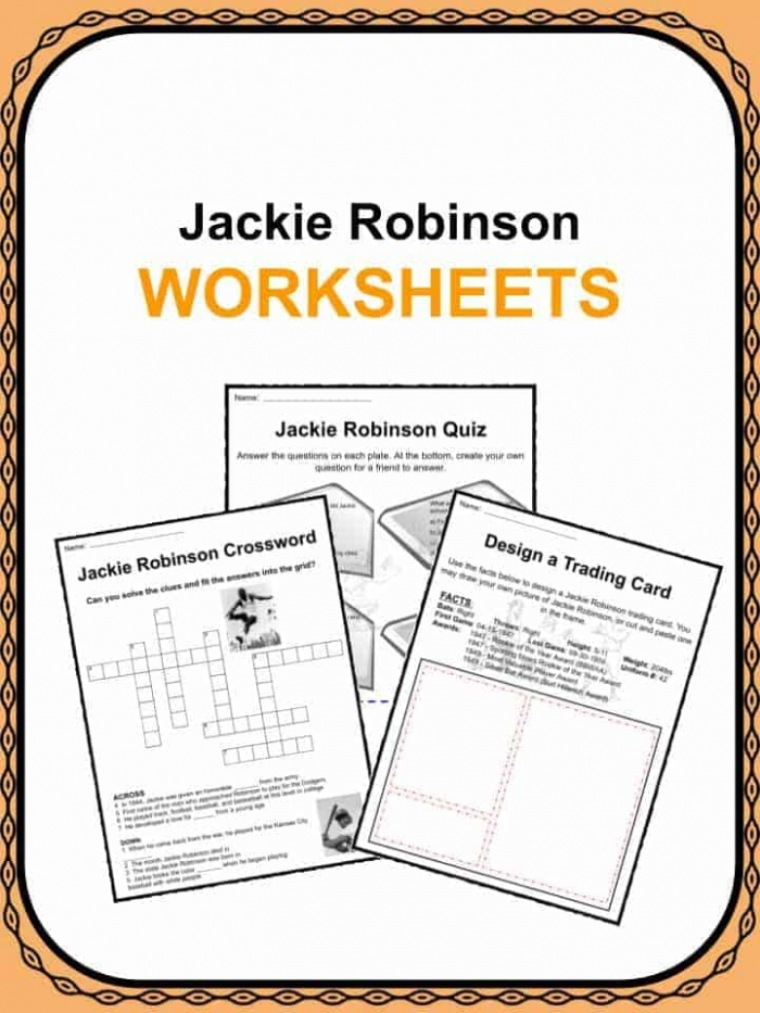 Jackie Robinson Facts   Worksheets
