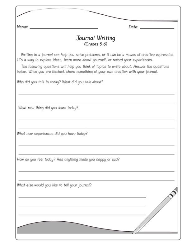 Journal Writing  Journal Writing Prompts For Kids