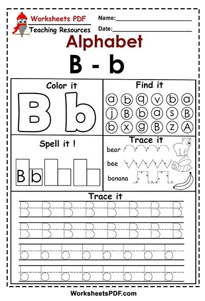 Letter B  B  Activities  Free Printables