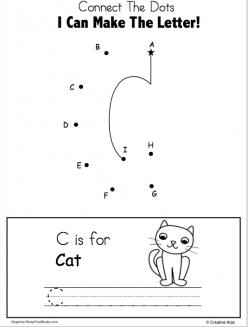 Dot-To-Dot Alphabet: C