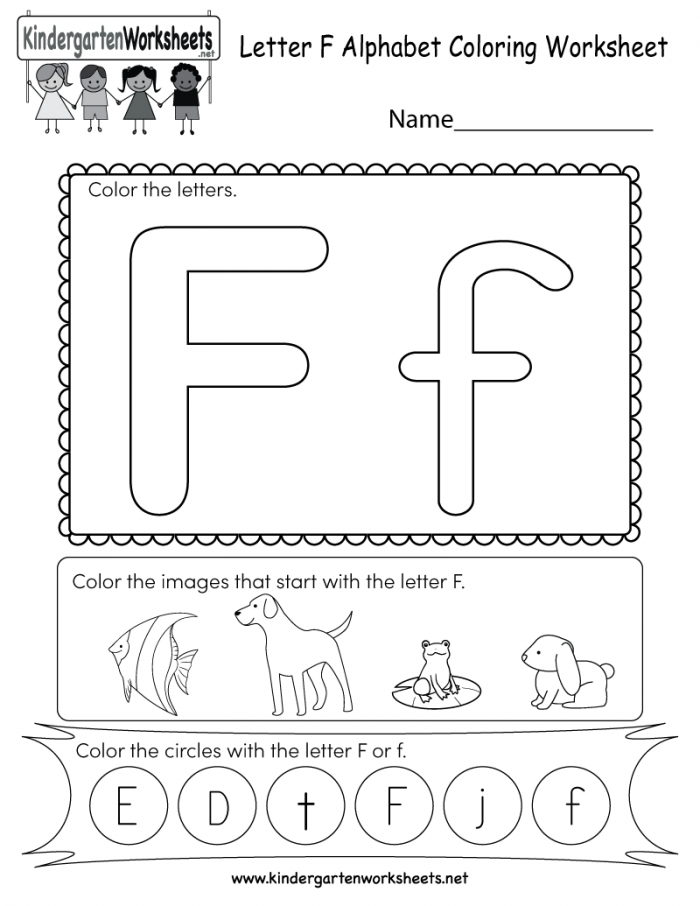 Letter F Coloring Worksheet