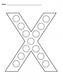 Dot-To-Dot Alphabet: X