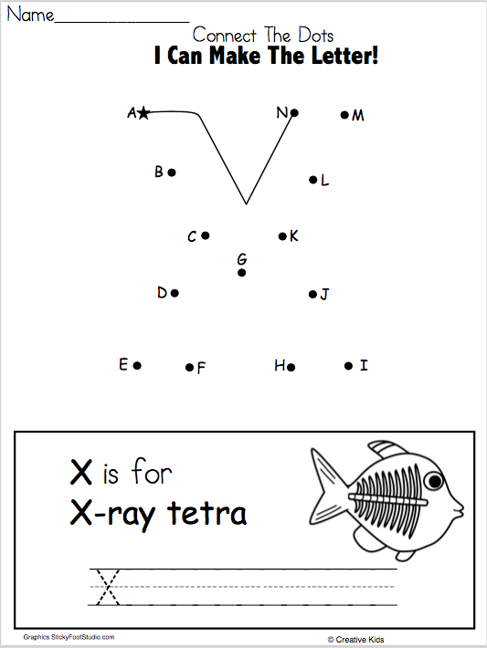 Letter X Writing Worksheet And Dot To Dot