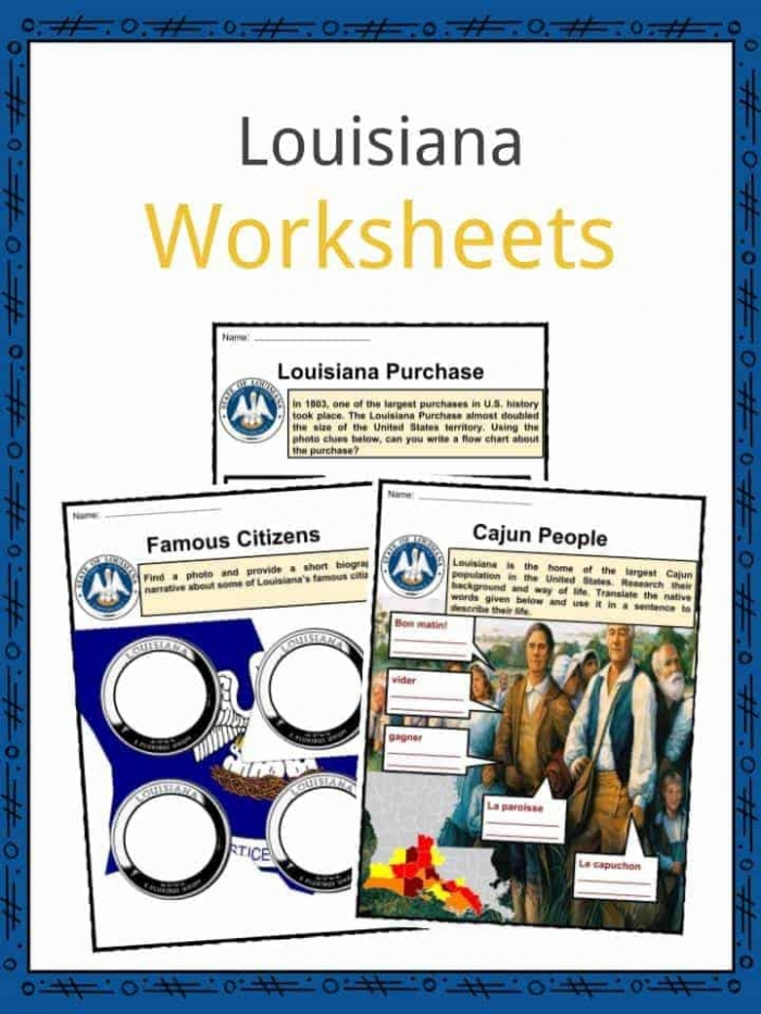 Louisiana Facts  Worksheets   State Historical Information For Kids