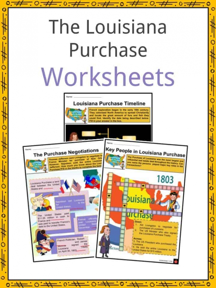 Louisiana Purchase Facts  Worksheets  Negotiations   History For Kids