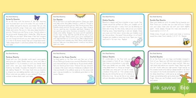 Mindful Minute Brain Break Cards