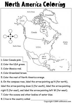 Color The Continents: North America