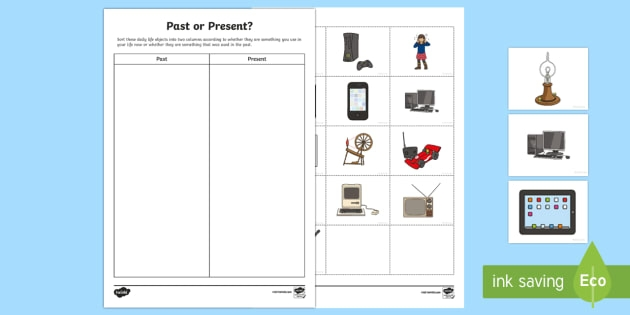 Past And Present Sorting Activity Teacher Made