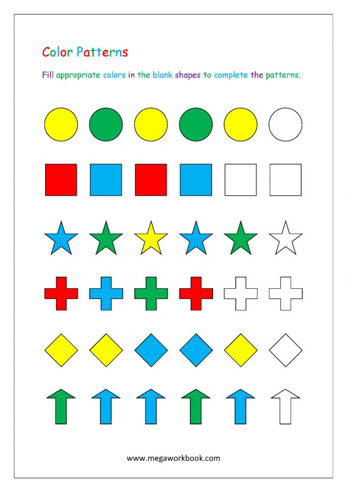 Pattern Worksheets For Kindergarten