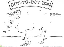 Dot To Dot Zoo: 5'S