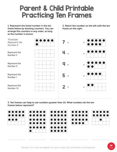 Practicing Ten Frames
