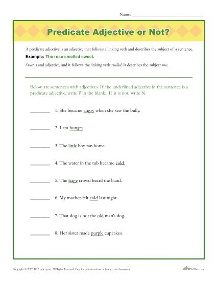 Predicate Adjective Or Not