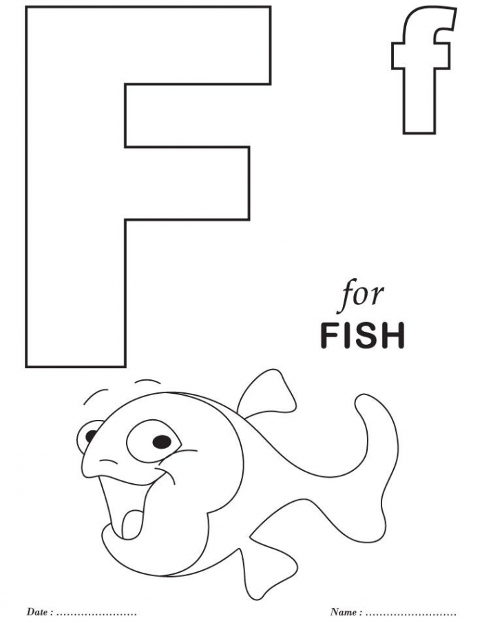 Printables Alphabet F Coloring Sheets