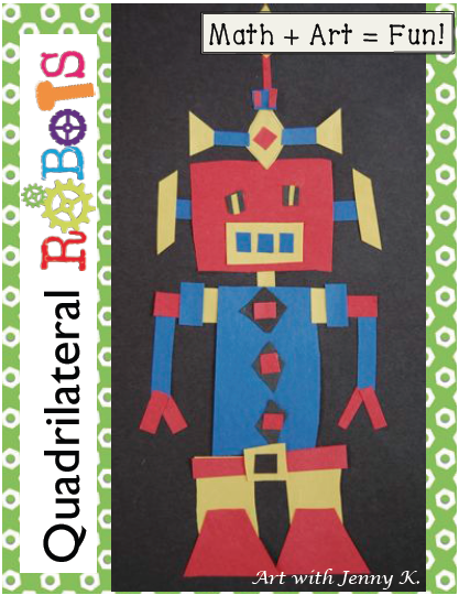 Quadrilateral Robots Math Activity  Worksheets   Game