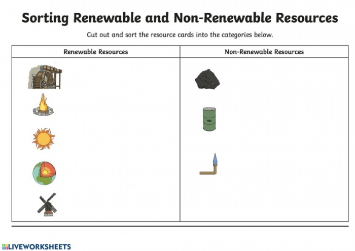 Renewable And Non Renewable Energy Sources Worksheet