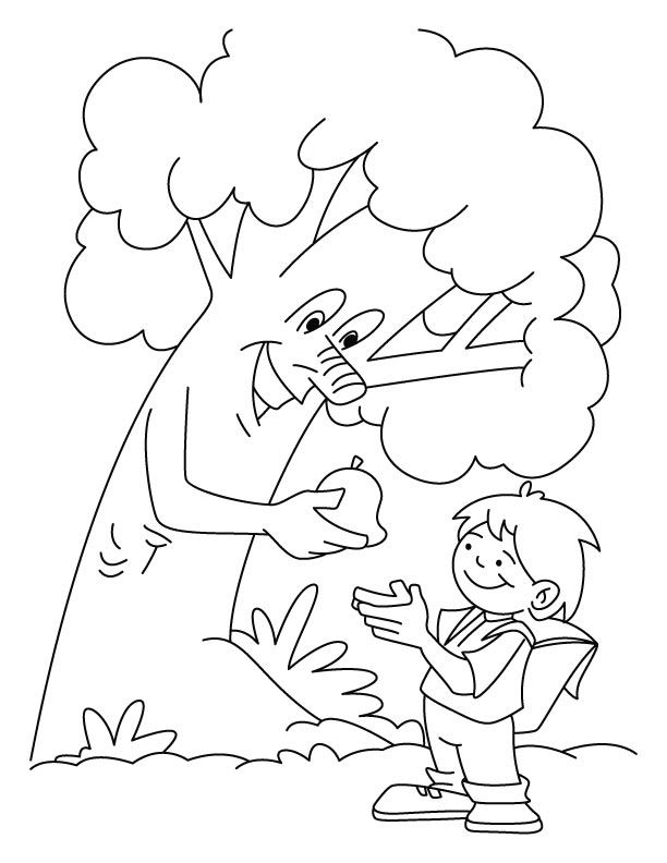 Save Trees Worksheets For Kids