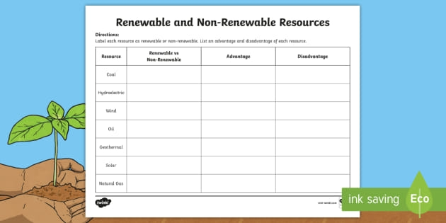 The Difference Between Renewable Resources And Non