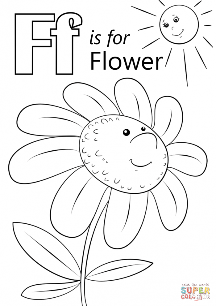 The Letter Worksheets Coloring Page Fox With Printable For