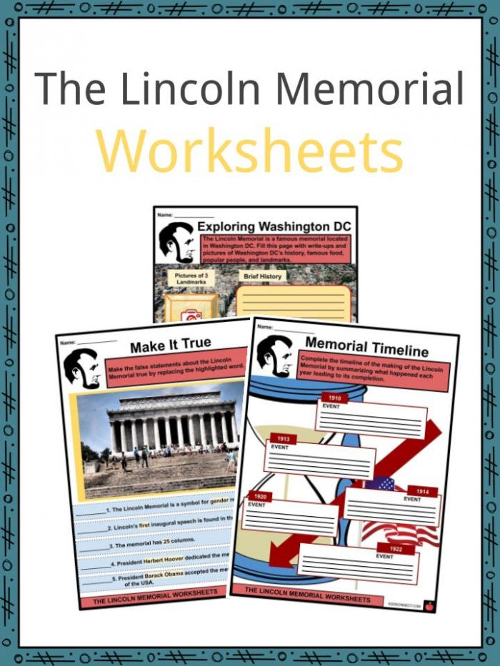 The Lincoln Memorial Facts  Worksheets  Design   History For Kids